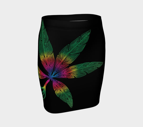 Lovescapes Fitted Skirt (Angel Feathers 04) - Lovescapes Art