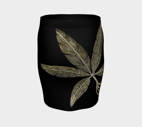Lovescapes Fitted Skirt (Angel Feathers 06) - Lovescapes Art