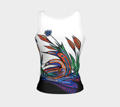 Lovescapes Fitted Tank Top (Loons in Love) - Lovescapes Art