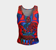 Lovescapes Fitted Tank Top (Totemic Guardians of the Great Return 01) - Lovescapes Art