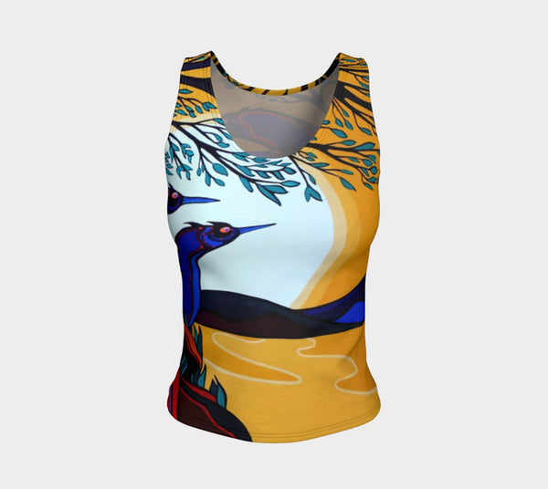 Lovescapes Fitted Tank Top (God's Country 01) - Lovescapes Art