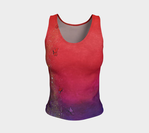 Lovescapes Fitted Tank Top (Solarium 01) - Lovescapes Art