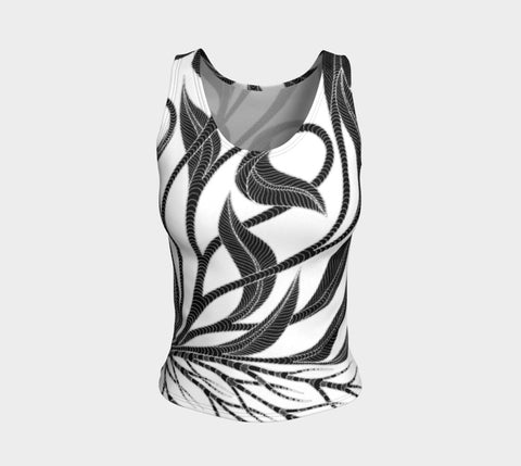 Lovescapes Fitted Tank Top (Kundalini Love Garden 01) - Lovescapes Art