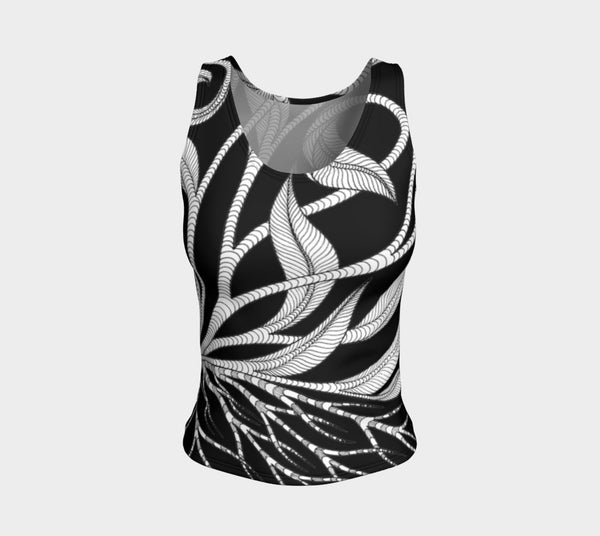 Lovescapes Fitted Tank Top (Kundalini Love Garden 02) - Lovescapes Art
