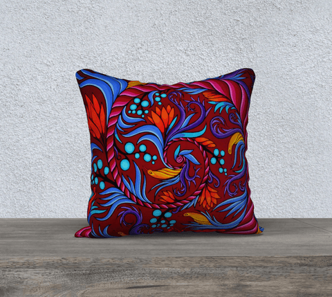 "Lovescapes Pillow 18"" x 18"" (Harmonic Convergence) - Lovescapes Art"