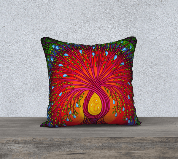 "Lovescapes Pillow 18"" x 18"" (Tree of Life) - Lovescapes Art"