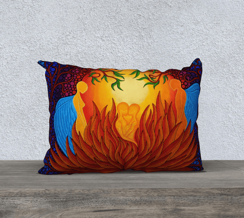 "Lovescapes Pillow 20"" x 14"" (Love in Bloom) - Lovescapes Art"
