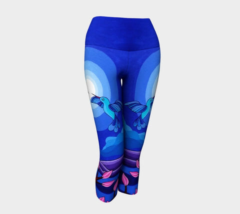 Lovescapes Yoga Capris (Dancing in the Moonlight) - Lovescapes Art