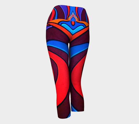 Lovescapes Yoga Capris (Vortex) - Lovescapes Art