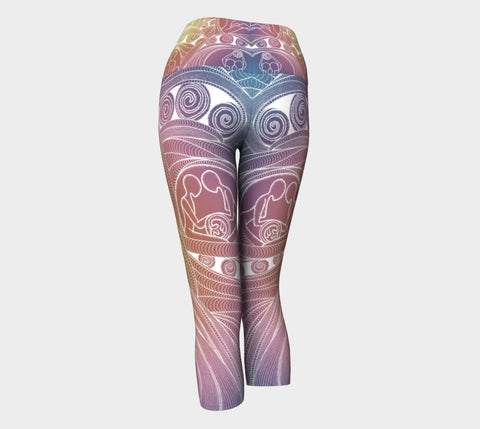 Lovescapes Yoga Capris (Love Bubbles 01) - Lovescapes Art