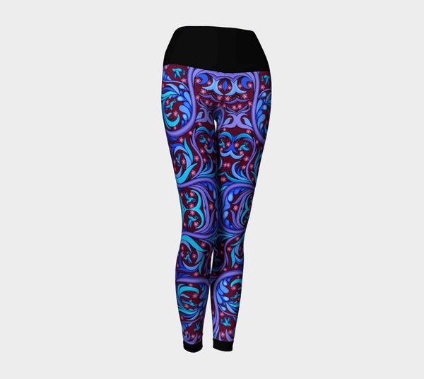 Lovescapes Yoga Leggings (Wirl-Wind Sonnet 01)