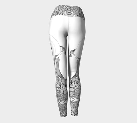 Lovescapes Yoga Leggings (Nature's Glory B&W 01) - Lovescapes Art