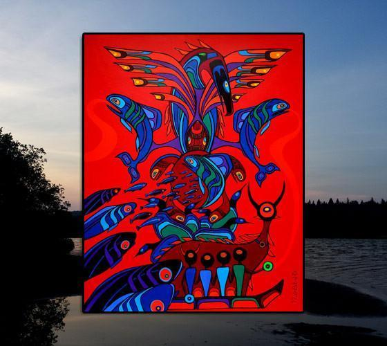 Totemic Guardians - Signed Art Print by Ritchie Sinclair