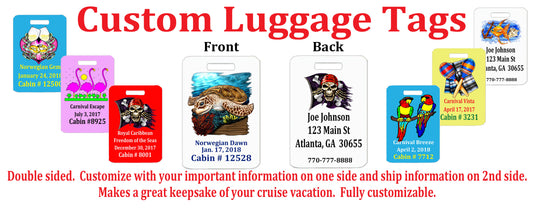 Cruise Custom Luggage Tags