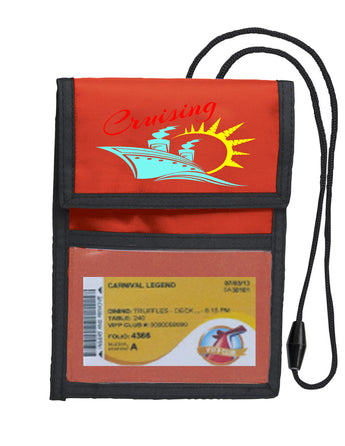 Deluxe Key Card holder - style red 023