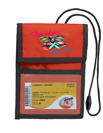 Deluxe Key Card holder - style red 024