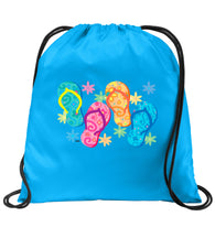 Cruise Drawstring Cinch Backpack with bright and colorful decorations