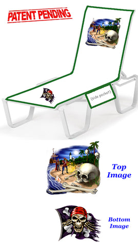 Superb Pirate Scene Lounge Chair Cover Premier Cruise Gear Dailytribune Chair Design For Home Dailytribuneorg