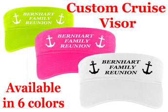 Cruise theme visor.  Customize this visor for your next family cruise