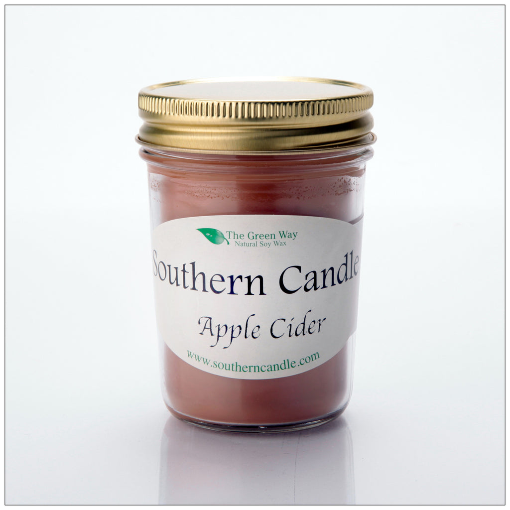 Apple Cider - 8 oz Heritage Jar Natural Soy Wax Candle - Southern Candle Classics