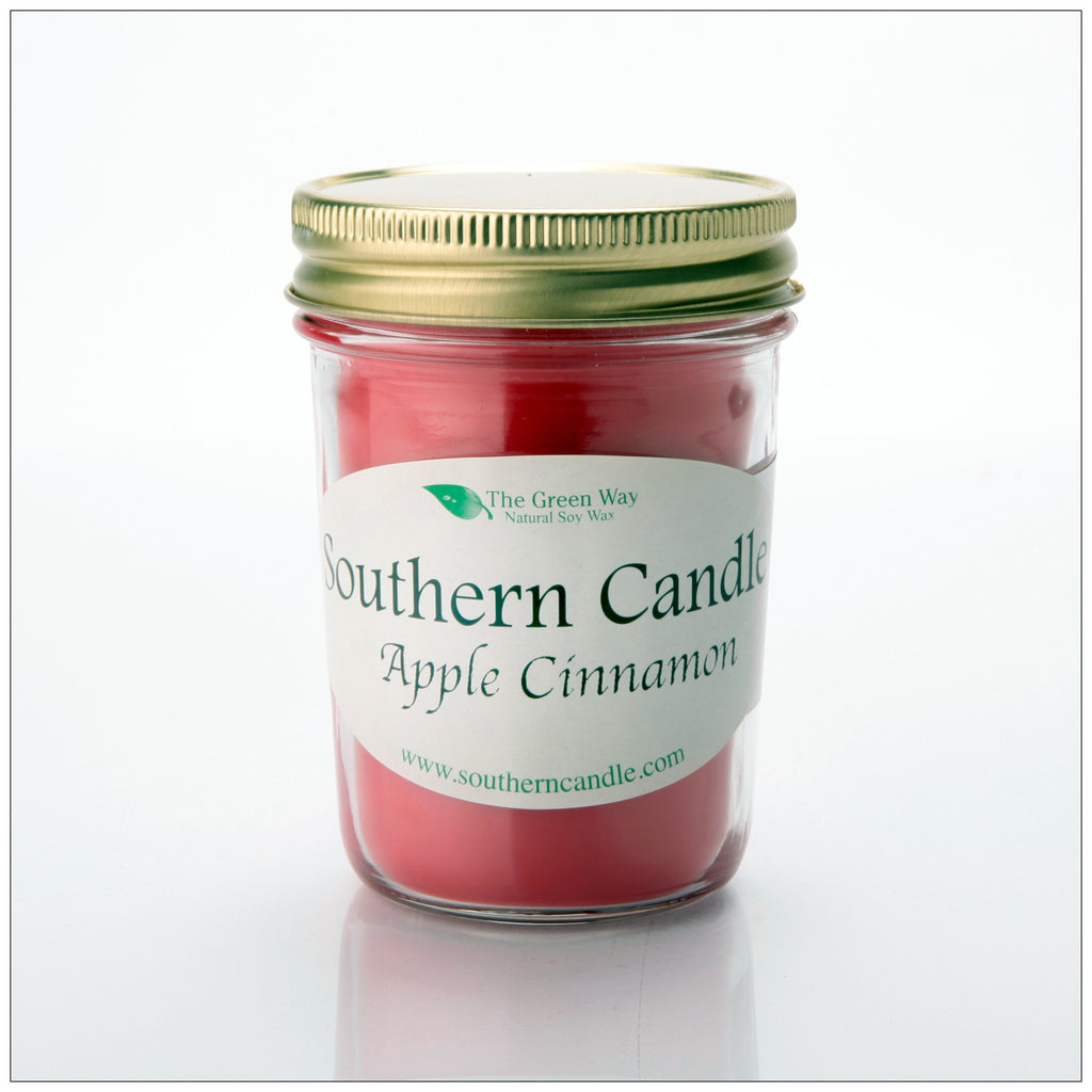 Apple Cinnamon - 8 oz Heritage Jar Natural Soy Wax Candle - Southern Candle Classics