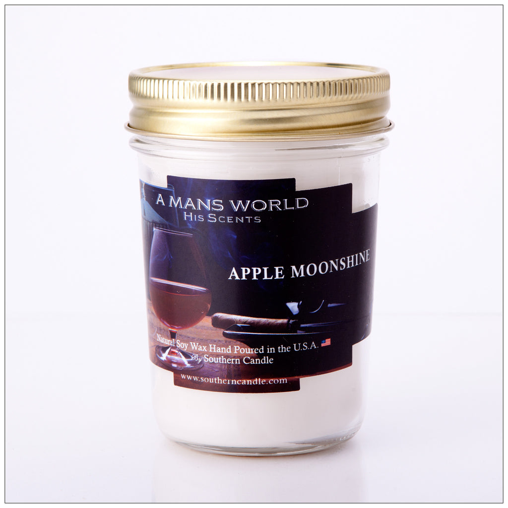 Apple Pie Moonshine 8 oz Heritage Jar Natural Soy Wax Candle - Southern Candle Classics