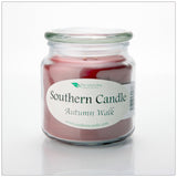 Autumn Walk 16 oz. Decorator Jar Natural Soy Wax Candle - Southern Candle Classics