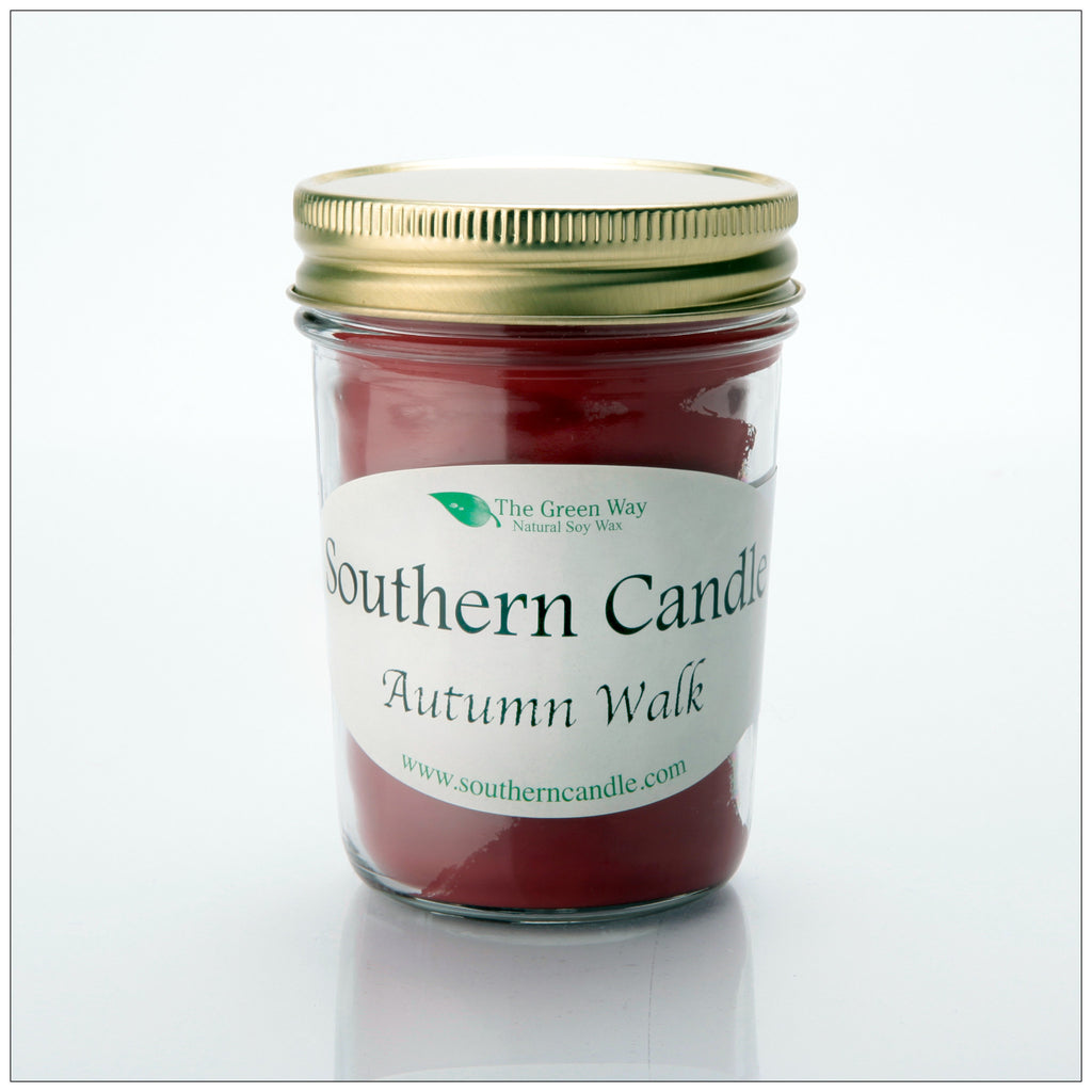 Autumn Walk - 8 oz Heritage Jar Natural Soy Wax Candle - Southern Candle Classics