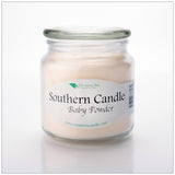 Baby Powder 16 oz Decorator Jar Natural Soy Wax Candle - Southern Candle Classics