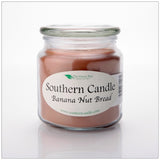 Banana Nut Bread 16 oz Decorator Jar Natural Soy Wax Candle - Southern Candle Classics