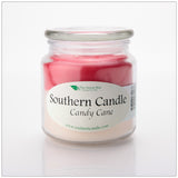 Candy Cane 16 oz Decorator Jar Natural Soy Wax Candle - Southern Candle Classics