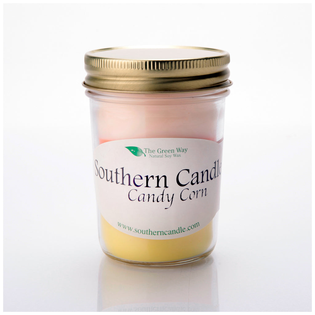 Candy Corn - 8 oz Heritage Jar Natural Soy Wax Candle - Southern Candle Classics