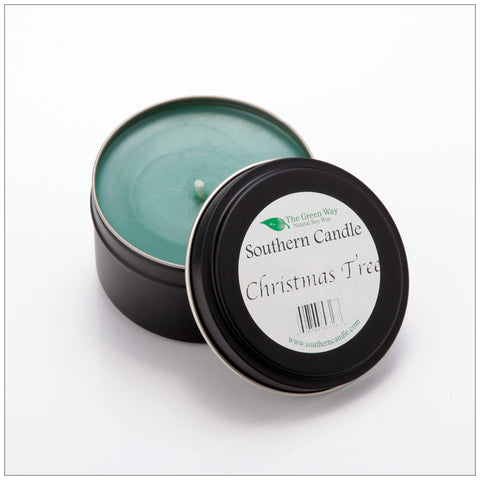 Peppermint Patty - 6 oz Travel Tin Natural Soy Wax Candle