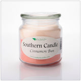 Cinnamon Bun 16 oz Decorator Jar Natural Soy Wax Candle - Southern Candle Classics