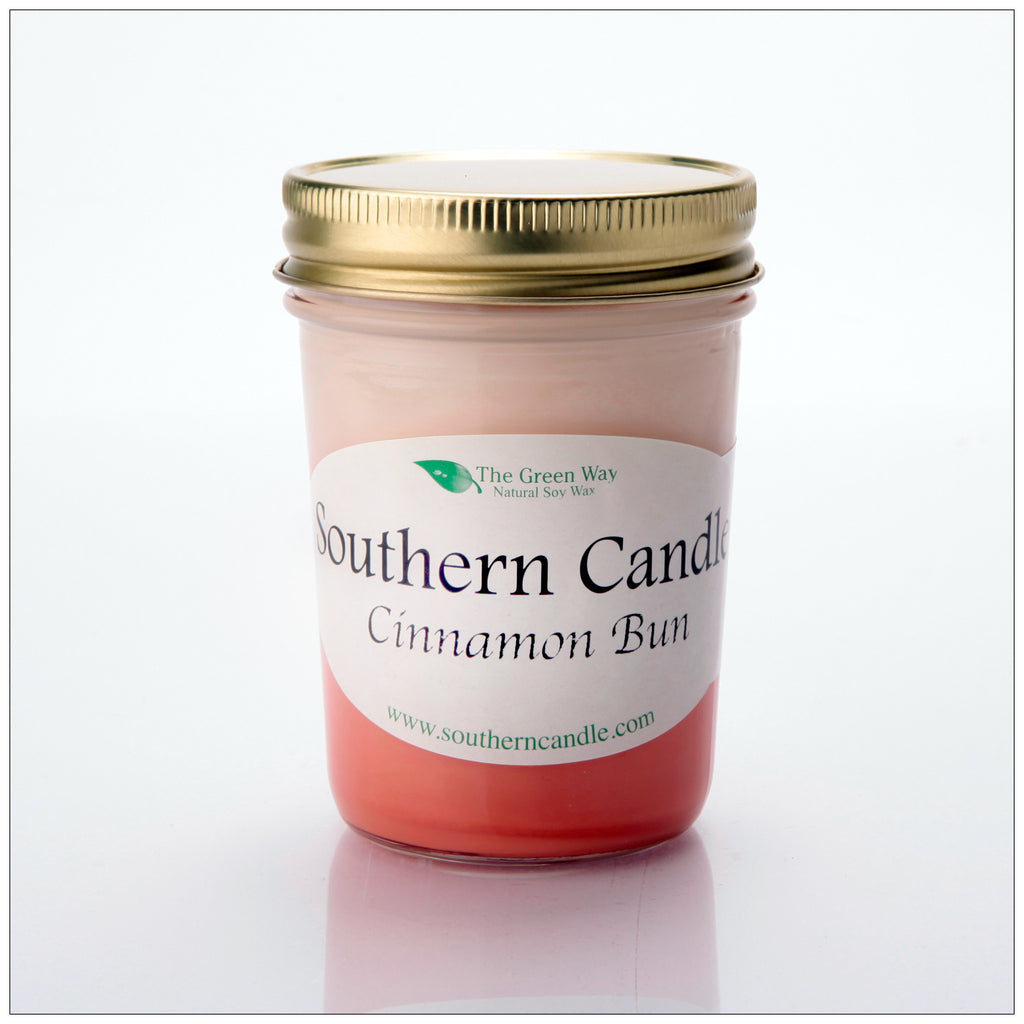 Cinnamon Bun - 8 oz Heritage Jar Natural Soy Wax Candle - Southern Candle Classics