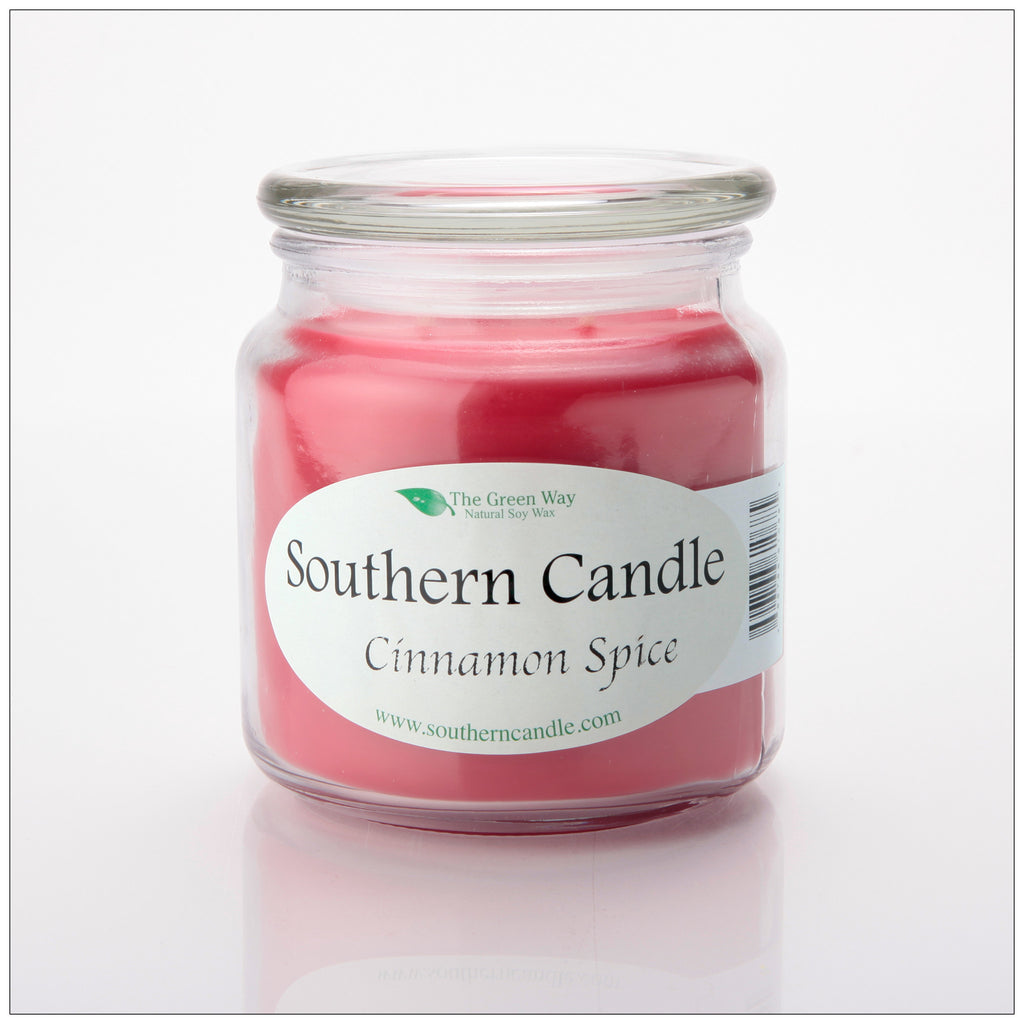 Cinnamon Spice 16 oz Decorator Jar Natural Soy Wax Candle - Southern Candle Classics