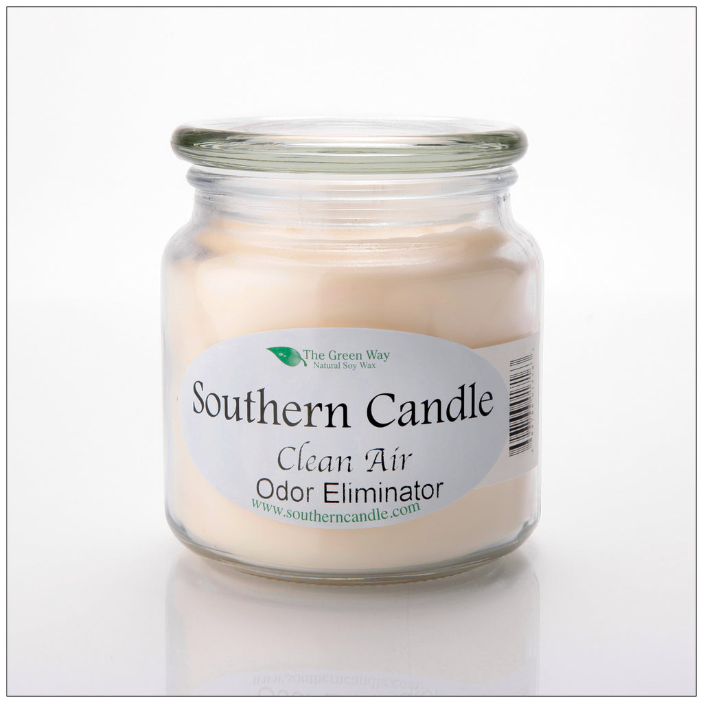 Clean Air Original Scent 16 oz Decorator Jar Natural Soy Wax Candle - Southern Candle Classics