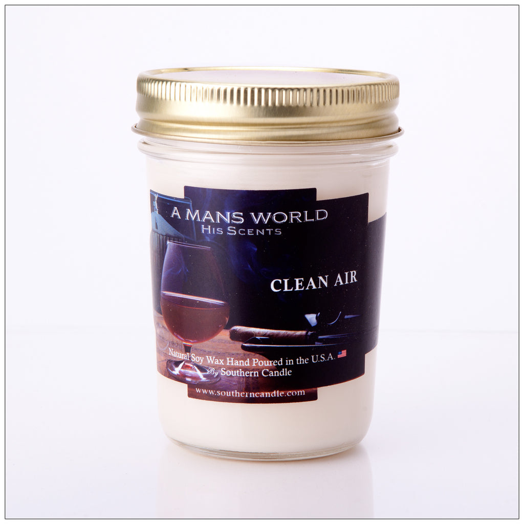 Moonshine Clean Air 8 oz Heritage Jar Natural Soy Wax Candle - Southern Candle Classics