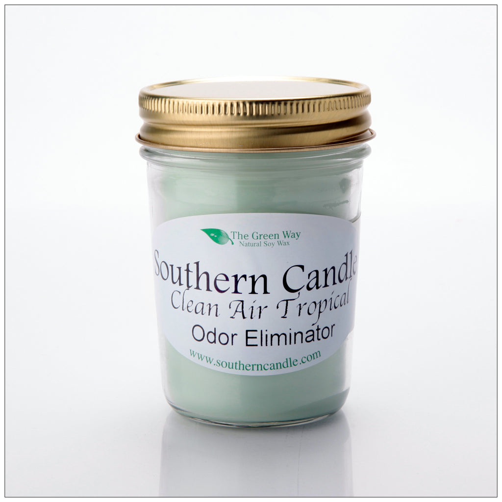Clean Air Tropical - 8 oz Heritage Jar Natural Soy Wax Candle - Southern Candle Classics