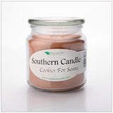 Cookies for Santa 16 oz Decorator Jar Natural Soy Wax Candle - Southern Candle Classics