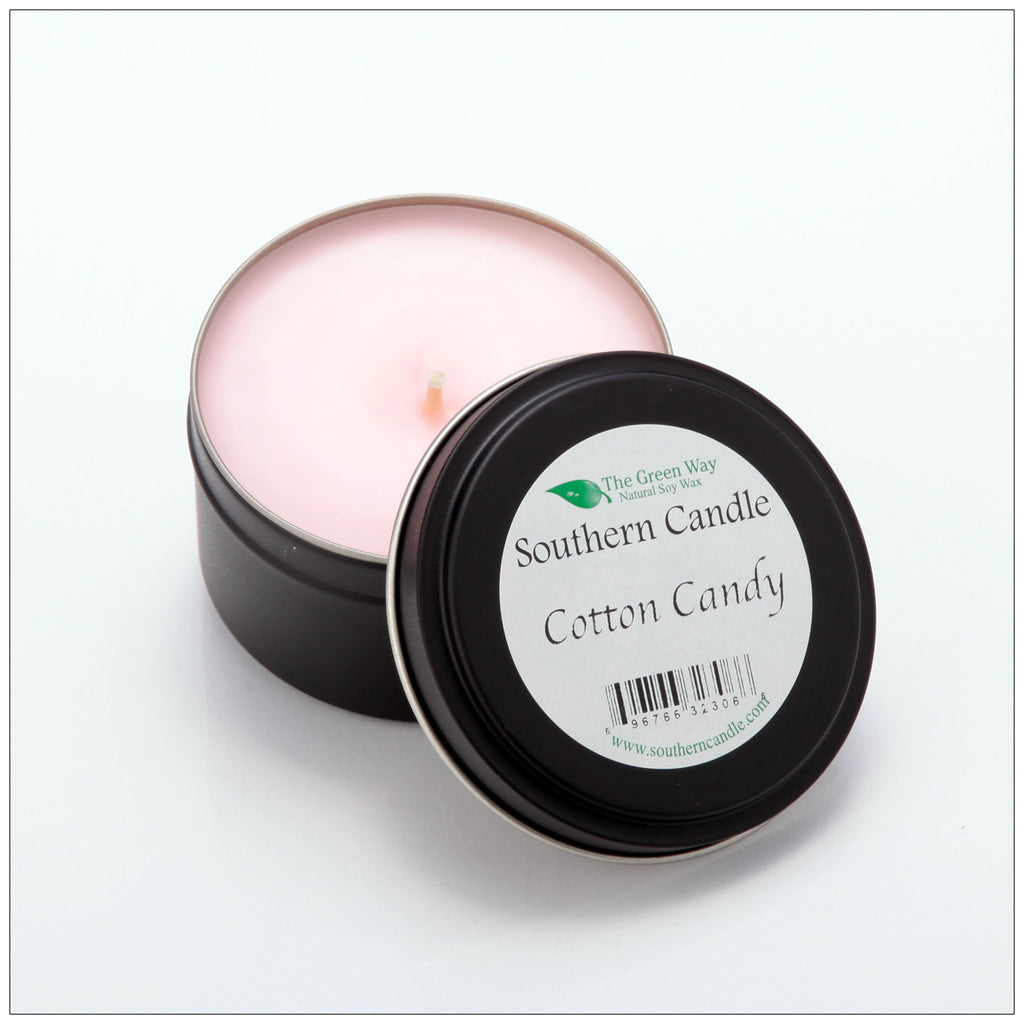 Cotton Candy - 6 oz Travel Tin Natural Soy Wax Candle - Southern Candle Classics