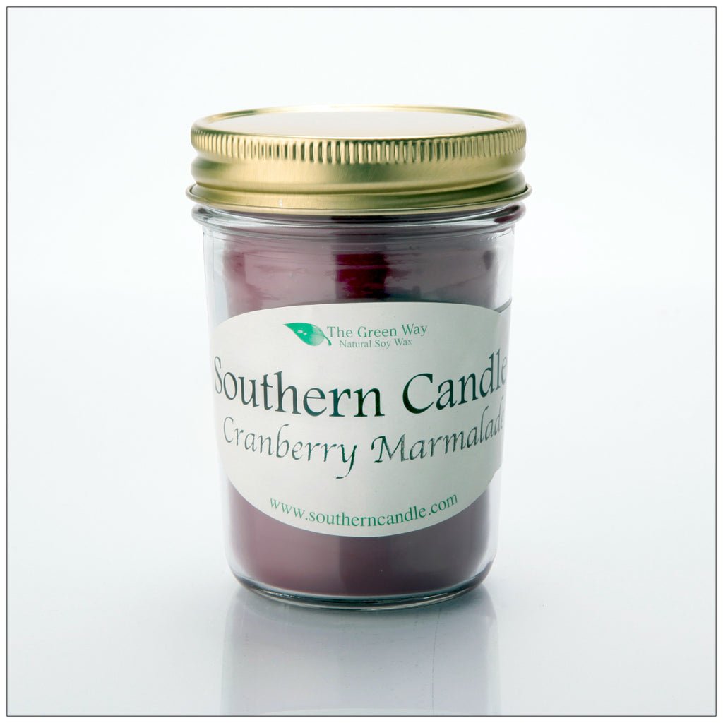 Cranberry Marmalade 8 oz Natural Soy Wax Candle - Southern Candle Classics