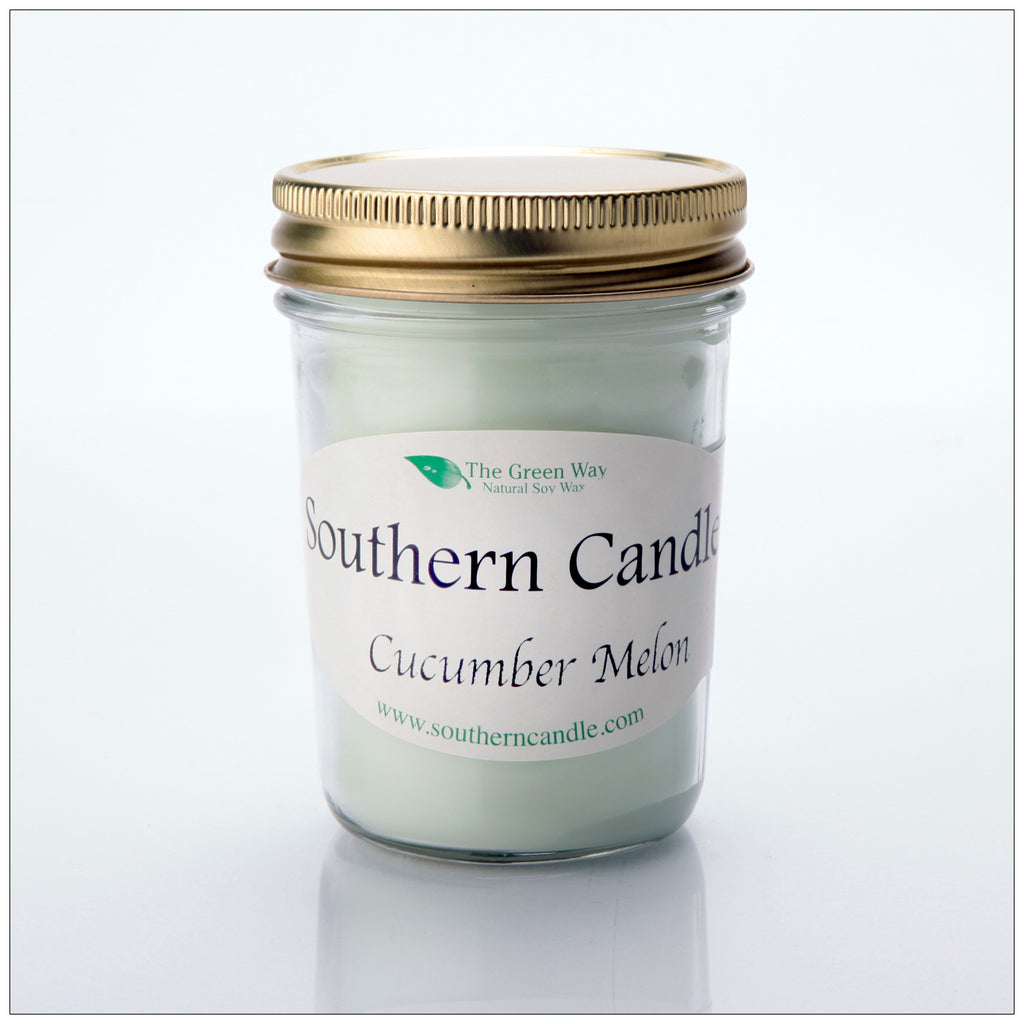 Cucumber Melon - 8 oz Heritage Jar Natural Soy Wax Candle - Southern Candle Classics