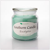 Eucalyptus 16 oz Decorator Jar Natural Soy Wax Candle - Southern Candle Classics
