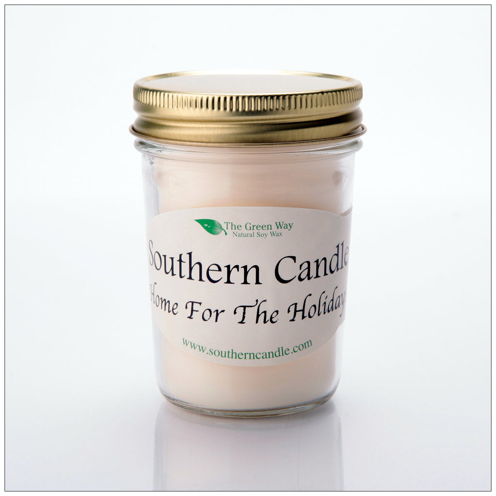 Home for the Holidays - 8 oz Heritage Jar Natural Soy Wax Candle - Southern Candle Classics