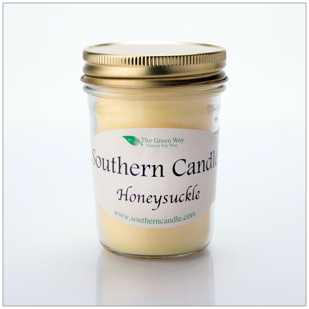 Honeysuckle 8 oz Heritage Jar Natural Soy Wax Candle - Southern Candle Classics