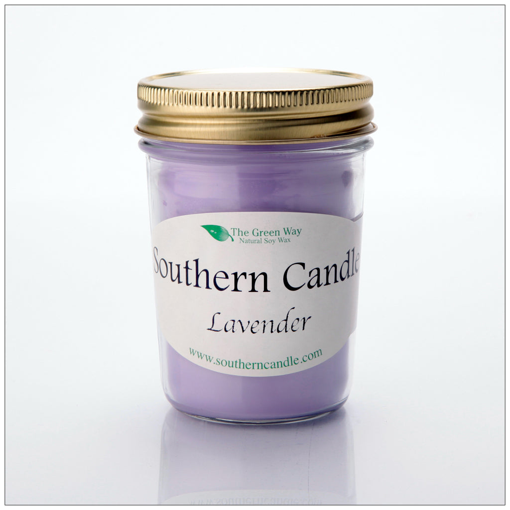 Lavender - 8 0z Heritage Jar Natural Soy Wax Candle - Southern Candle Classics