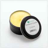 Lemon - 6 oz Travel Tin Natural Soy Wax Candle - Southern Candle Classics