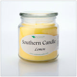Lemon 16 oz Decorator Jar Natural Soy Wax Candle - Southern Candle Classics