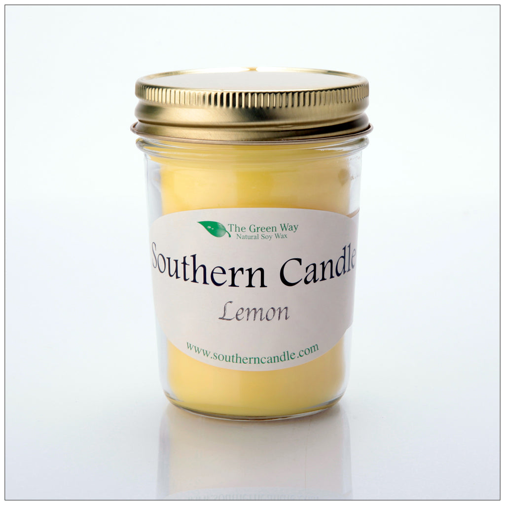 Lemon - 8 oz Heritage Jar Natural Soy Wax Candle - Southern Candle Classics